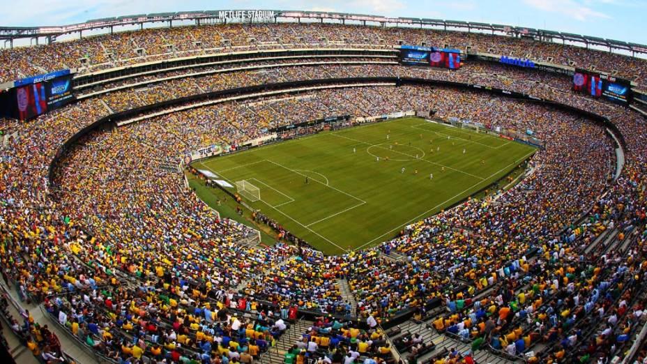 Estádio Met Life durante amistoso entre Brasil e Argentina em Nova Jersey, Estados Unidos
