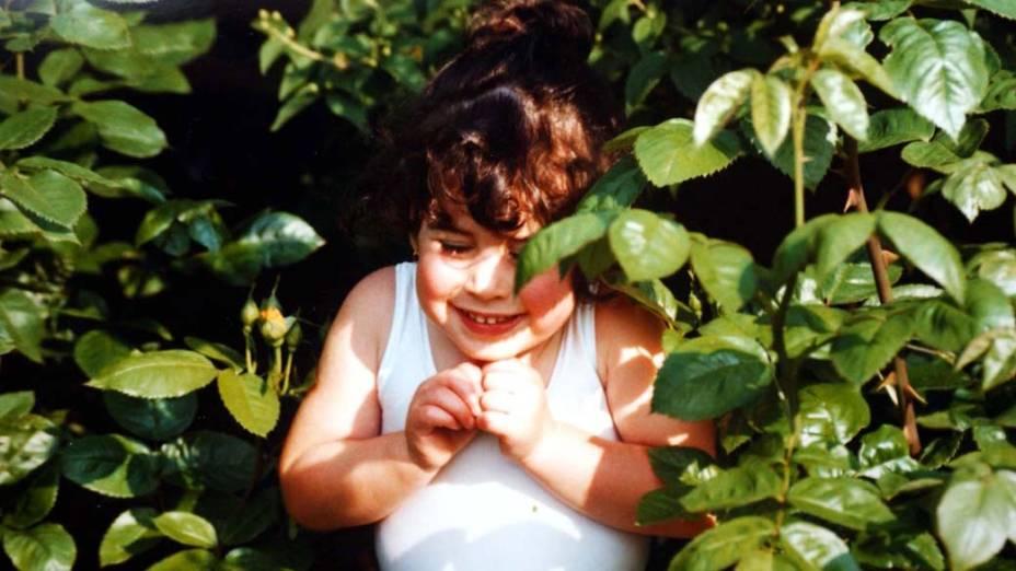 Amy Winehouse com 4 anos de idade em 1987