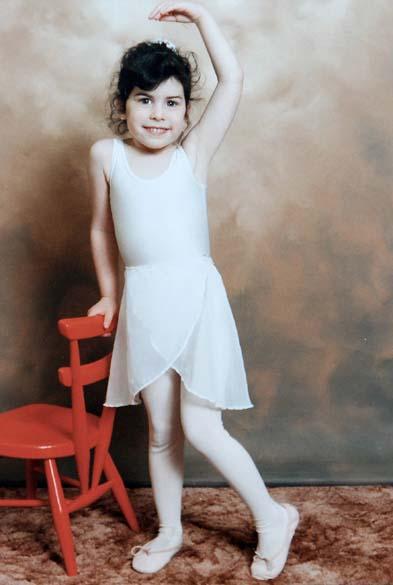 Amy Winehouse com 5 anos de idade em 1988