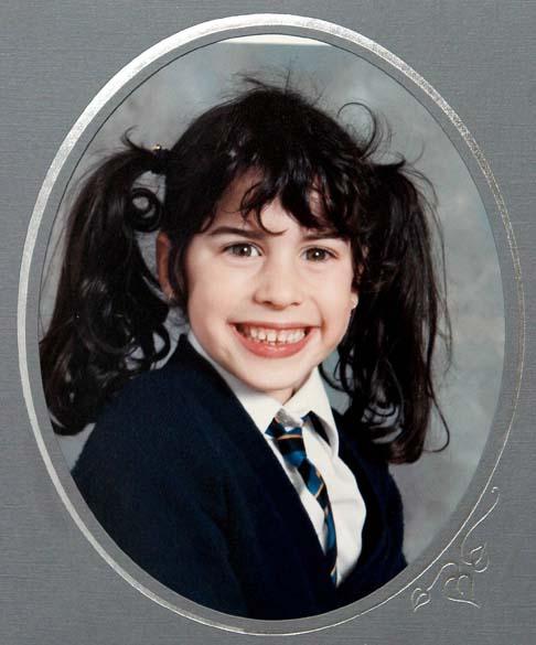 Amy Winehouse com 8 anos de idade em 1991