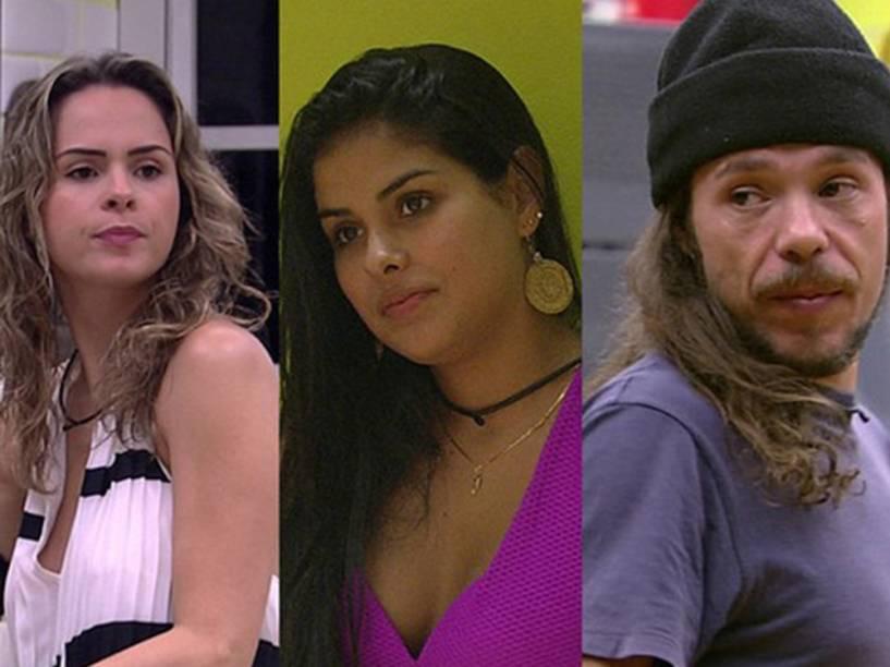 Ana Paula, Munik e Tamiel, os emparedados na semana
