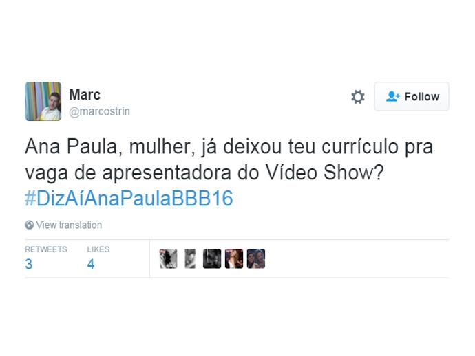 Será que Ana deixou o currículo na Globo?