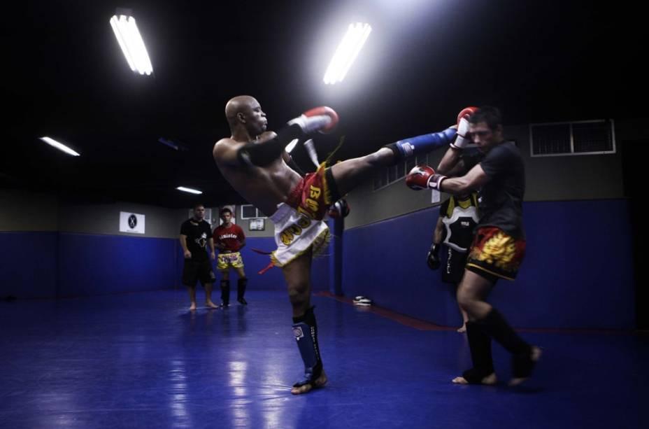 Anderson Silva, lutador de MMA, em sessão de fotos exclusiva para VEJA, em 2009