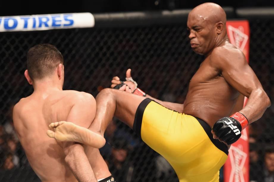 """Anderson """"Spider"""" Silva vence Nick Diaz no UFC 183 em Las Vegas"""