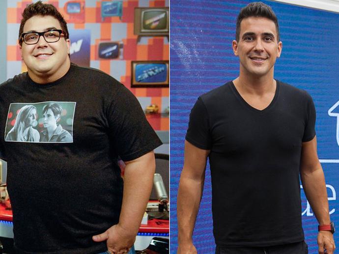 André Marques antes e depois da cirurgia bariátrica