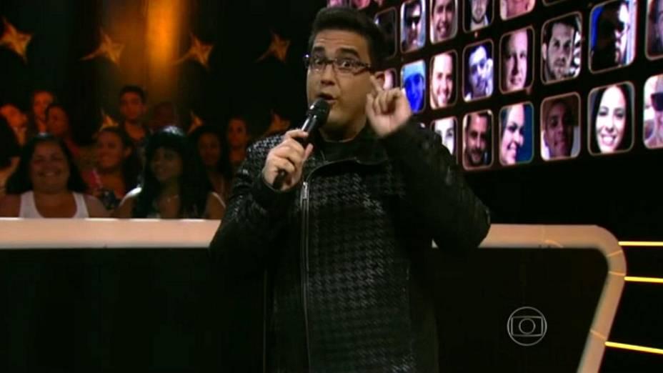 André Marques, na estreia de SuperStar