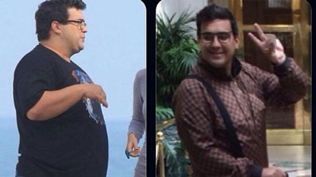 André Marques compara fotos de antes e depois de cirurgia que o fez perder mais de 50 quilos