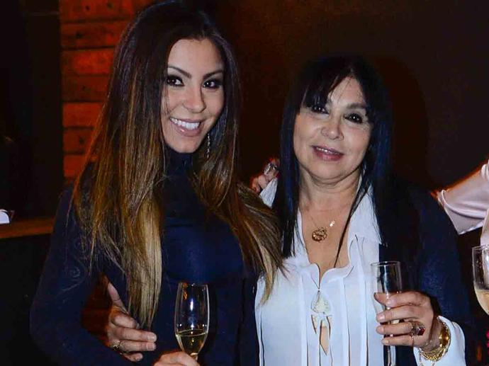Andressa, namorada de Thammy, e sua mãe