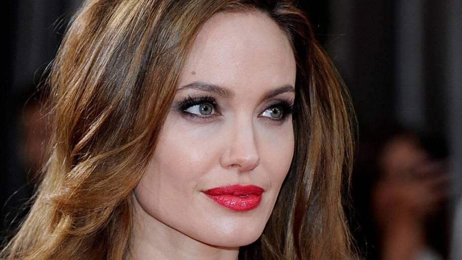 A atriz Angelina Jolie, no Oscar 2012