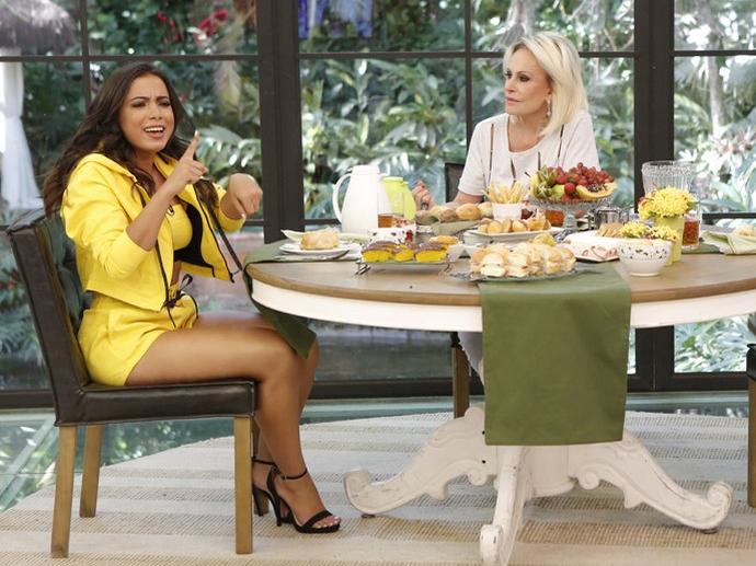 Anitta participa do Mais Você, com Ana Maria Braga