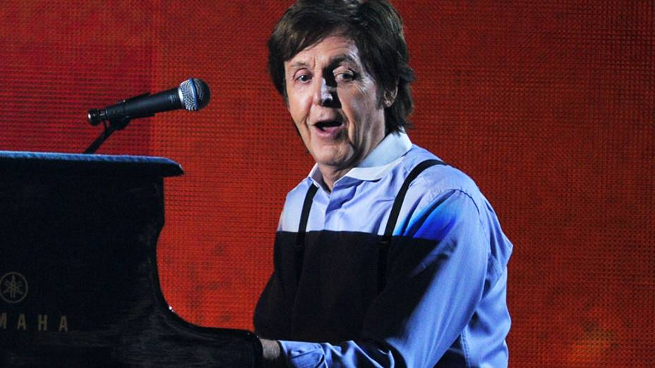 Paul McCartney durante 54ª edição do Grammy no Staples Center em fevereiro de 2012