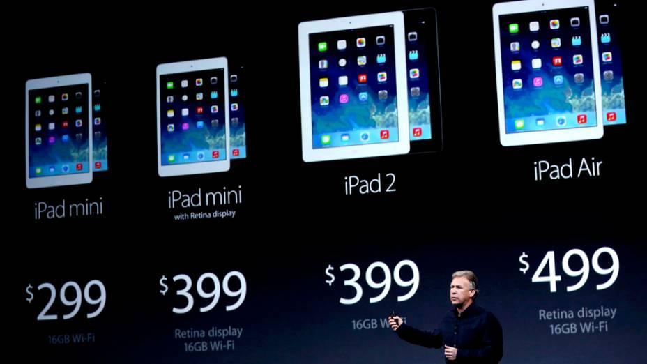 Vice-presidente da apple, apresenta os preços dos novos Ipads