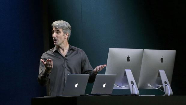 Craig Federighi, durante evento da Apple