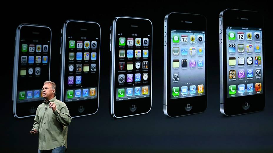 Phill Schiller vice-presidente sênior da Apple durante evento no Yerba Buena Center for Arts, em São Francisco, Califórnia, em que será realizado o anúncio do novo iPhone 5<br><br>