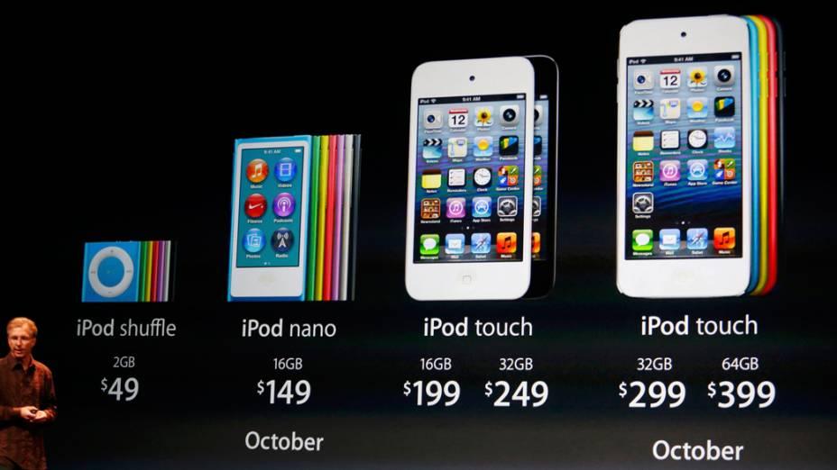 Greg Joswiak, vice-presidente de iPod, iPhone e iOS, fala sobre os preços do iPod e as datas de entrega dos primeiros produtos