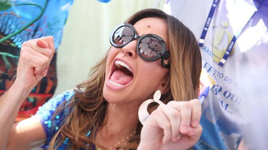 Sabrina Sato durante apuração das escolas de Samba do Grupo especial do Carnaval do RJ 2013