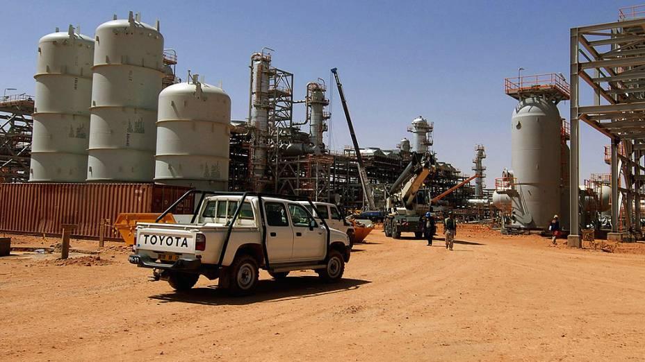 Campo de exploração de gás em In Amenas, Argélia