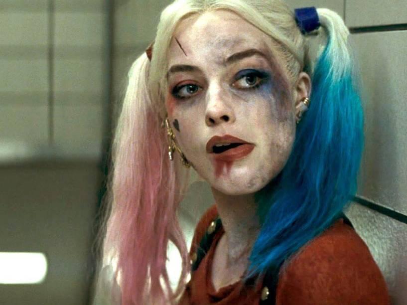 Arlequina vivida pela atriz Margot Robbie em Esquadrão Suicida