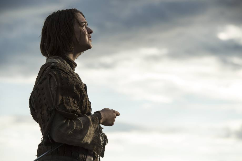 Arya Stark (Maisie Williams) na quinta temporada de Game of Thrones