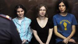 As jovens do grupo punk russo Pussy Riot