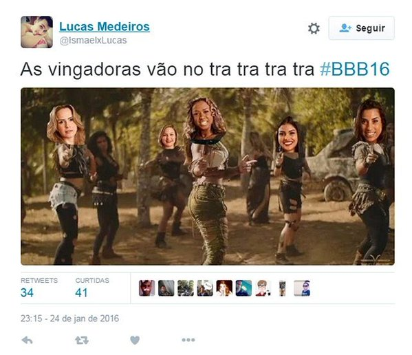 As vingadoras do BBB16
