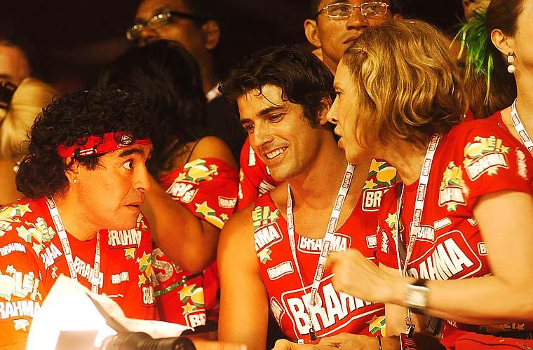 Diego Maradona esteve no Rio em 2006.