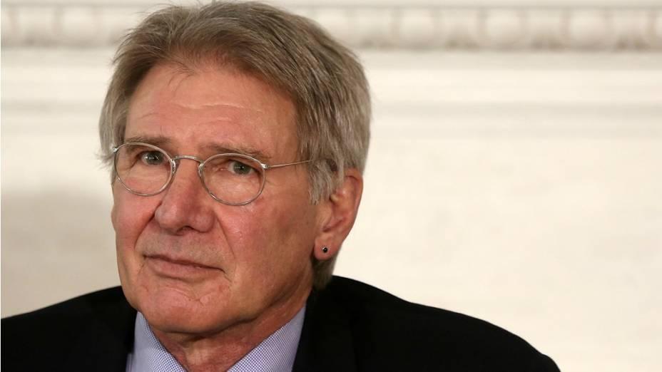 Ator Harrison Ford em evento promovido pela Casa Branca, nos Estados Unidos.