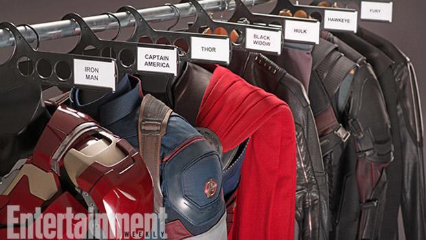 Vestimentas dos personagens do filme Vingadores 2 - A Era de Ultron