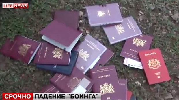 Passaportes encontrados no local do acidente