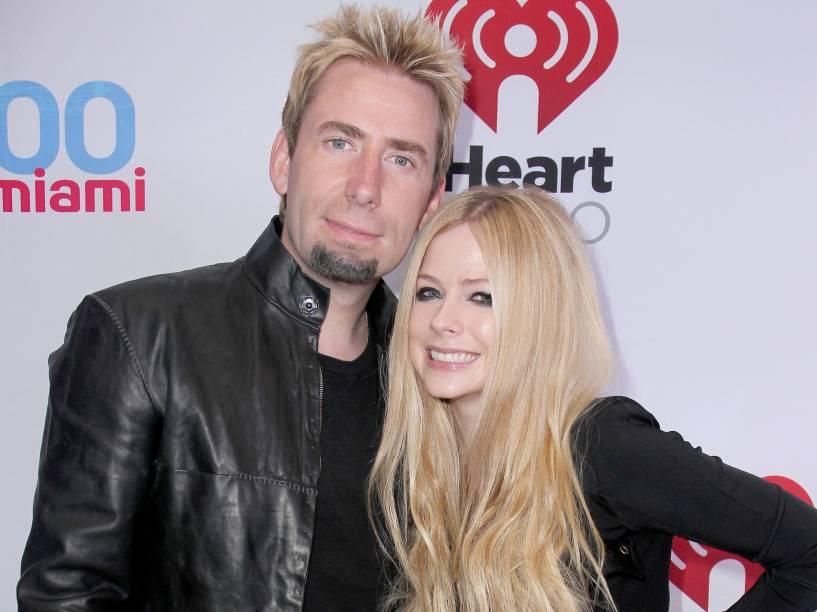 Avril Lavigne e Chad Kroeger durante o casamento