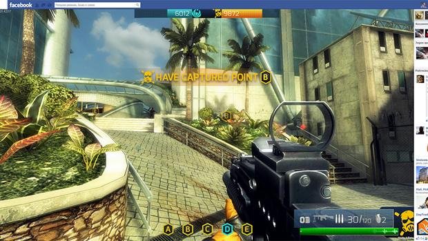 A imagem mostra como vai funcionar a integração do jogo com o Facebook