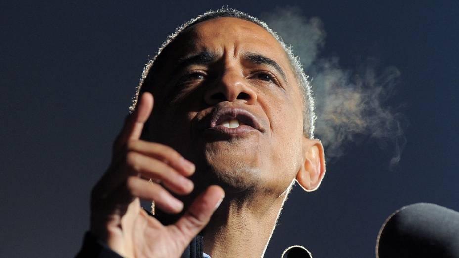 Barack Obama em Iowa, em 05/11/2012