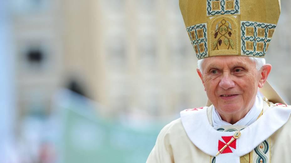 Papa Bento XVI durante a cerimônia de beatificação de João Paulo II, no Vaticano
