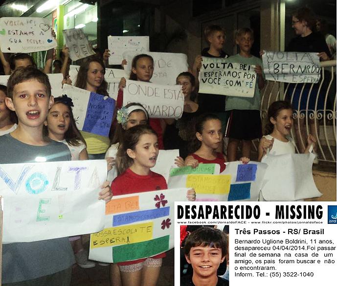 Antes de o corpo ser encontrado, moradores de Três Passos (RS) se mobilizaram para localizar Bernardo