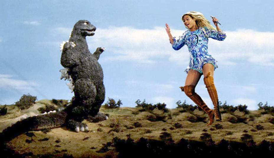 Até Godzilla se assusta com a careta de Beyonça