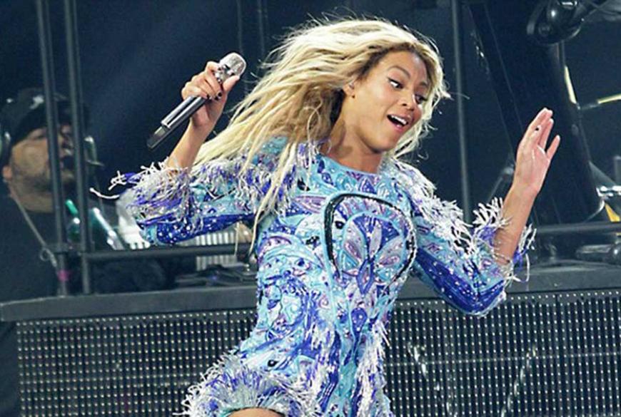 Detalhe da foto original de Beyoncé. Sim, original