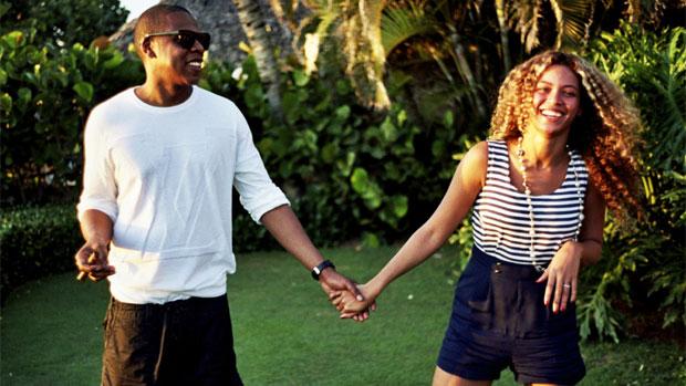 Beyoncé e o marido Jay-Z em momento de descontração