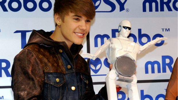 <p>Justin Bieber na CES 2012 </p>