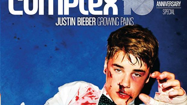 <p>Cantor Justin Bieber em foto para revista Complex</p>
