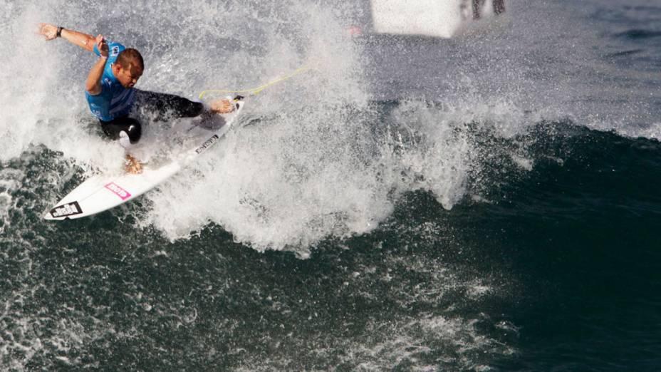 Surfista norte-americano Patrick Gadauskas durante o Billabong Pro Rio na praia do Arpoador