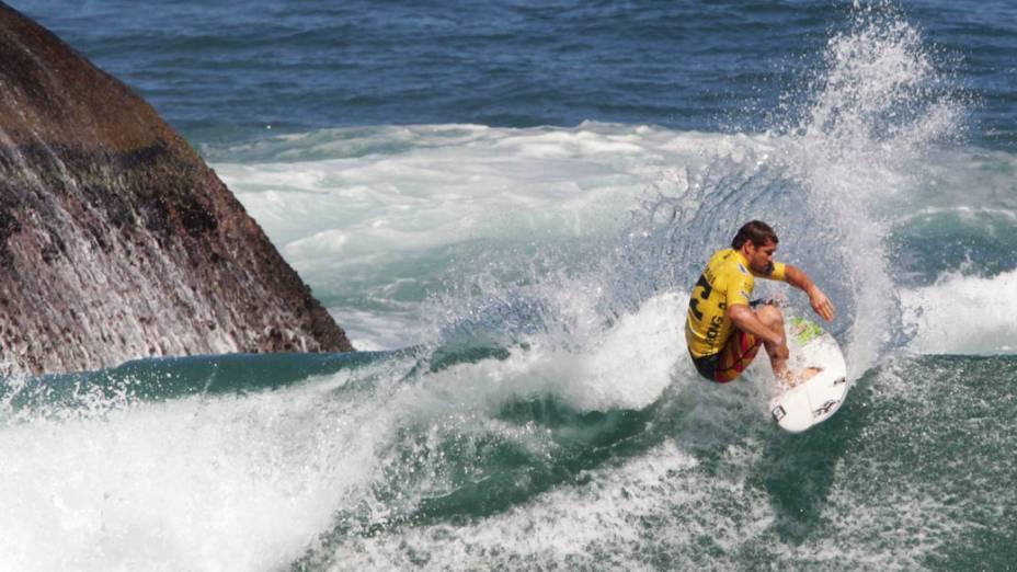 Surfista norte-americano Damien Hobgood durante o Billabong Pro Rio na praia do Arpoador