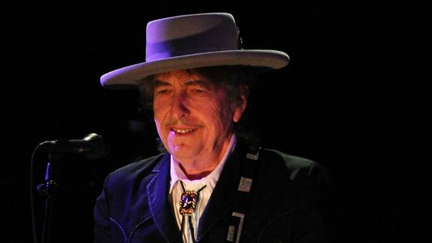 Bob Dylan durante show em Byron Bay, Austrália