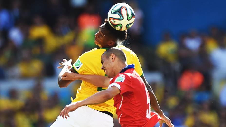 Brasil e Chile no Mineirão, em Belo Horizonte