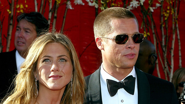 Jennifer Aniston e Brad Pitt juntos, no Prêmio Emmy de 2004