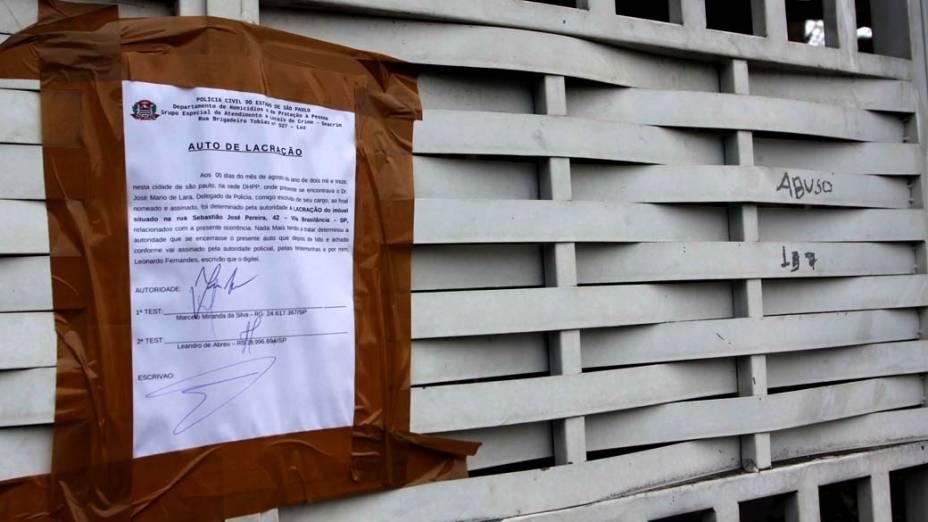 Residência do casal de policias no Bairro da Brasilândia, Zona Norte de São Paulo, amanhece lacrada