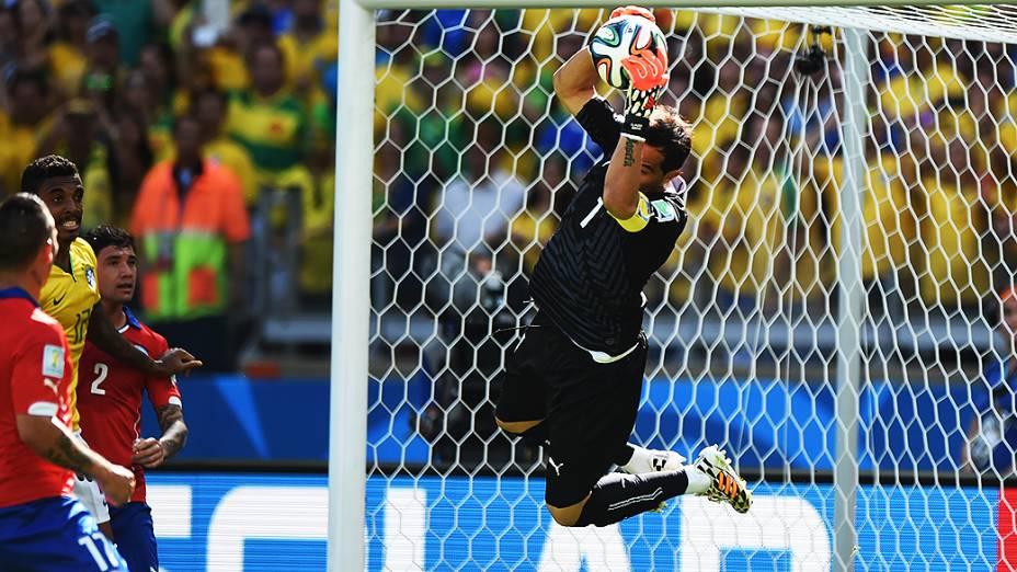 Partida entre Brasil e Chile no Mineirão