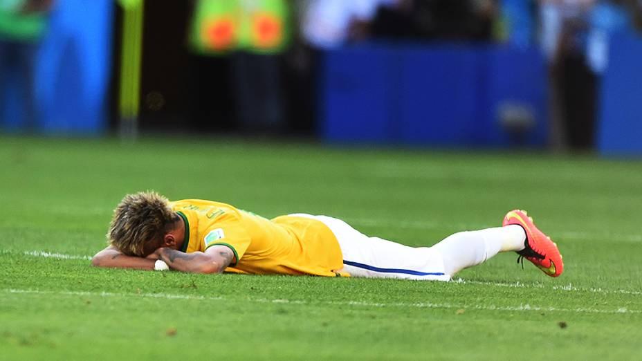 Neymar após a vitória do Brasil sobre o Chile