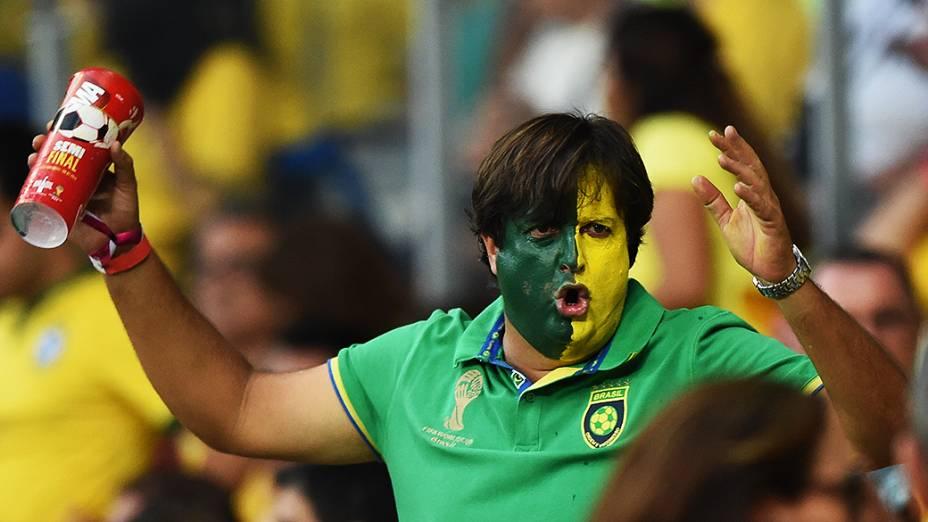 Torcedor do Brasil durante o jogo contra a Alemanha