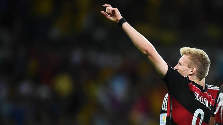 Schürrle, da Alemanha, comemora vitória sobre o Brasil