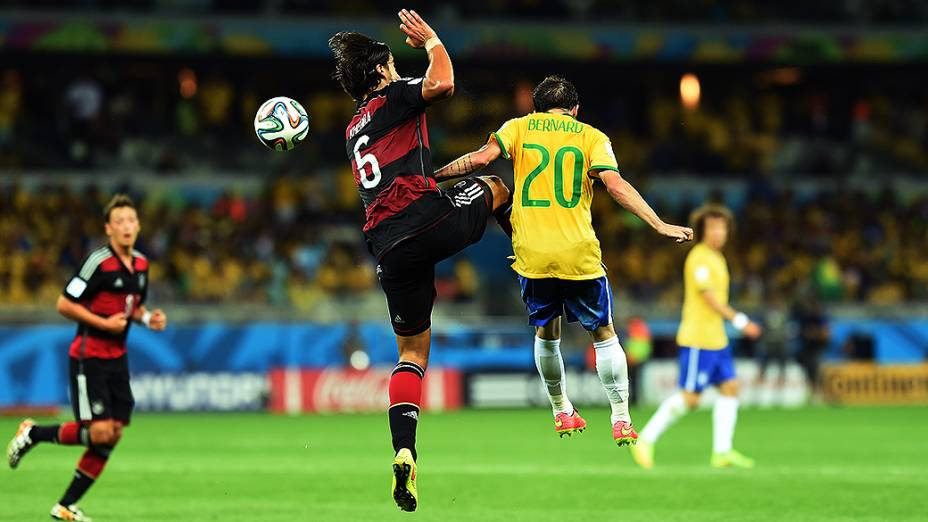 Lance no jogo entre Brasil e Alemanha